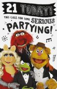 The Muppets 21st Birthday Card